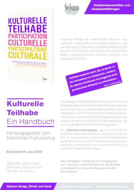 thumbnail of Flyer Seismo Handbuch Kulturelle Teilhabe d_f_i